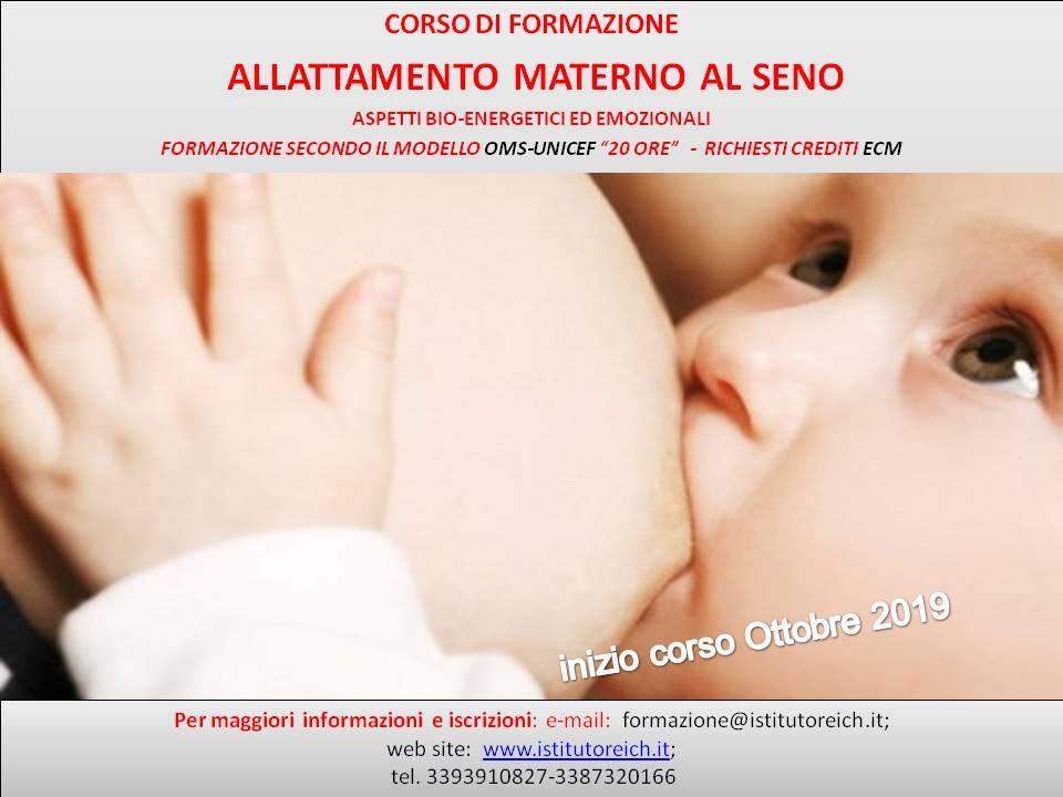 Corso di formazione - allattamento al seno - aspetti bio-energetici ed emozionali